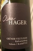 Grüner Veltliner Kalvarienberg 2016, Oskar Hager